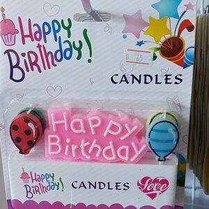 เทียน Happy Birthday