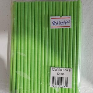 ไม้โลลี่ป๊อป ยาว 10cm สีเขียว
