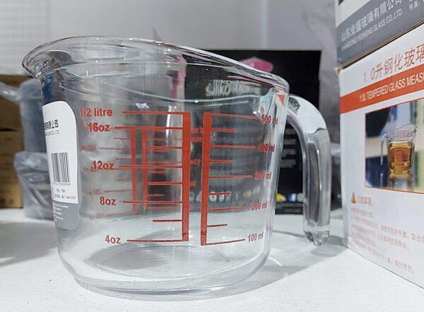 0.5L Tempered Glass Measuring Jug