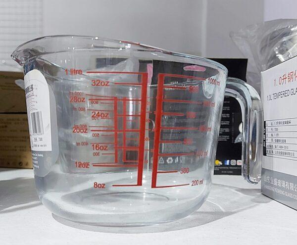 1.0L Tempered Glass Measuring Jug