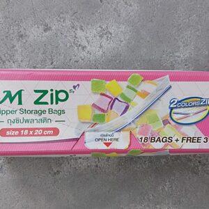 M Zip Zipper Storage Bags