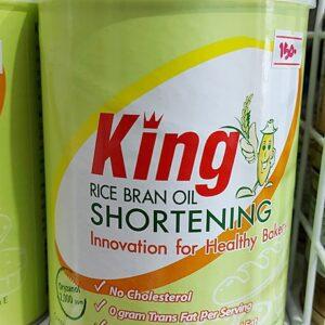 King Rice Bran Oil Shortening
