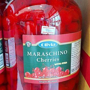 Olivia Maraschino Cherries with Stem
