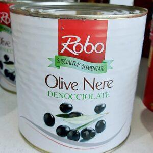 Robo Olive Nere Denocciolate in Salamoia