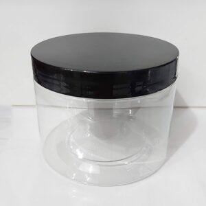 กระปุก PET ใส 10 x 8.5cm 600ml ฝาดำ