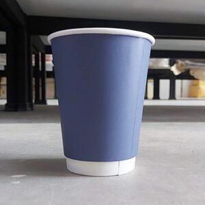 ถ้วยกระดาษ 12oz สีน้ำเงิน