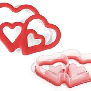 Cookie Cutter Double Heart